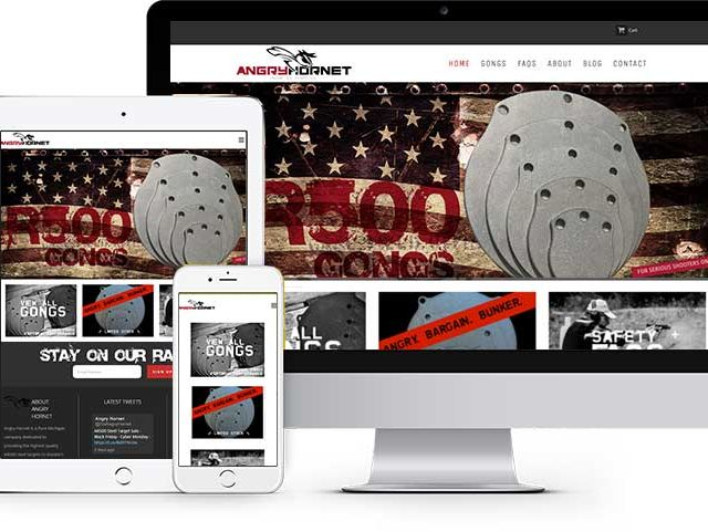 Website & Mobile Site Design for Angry Hornet