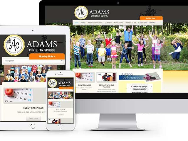Website and Mobile Site Design for Adams Christian School
