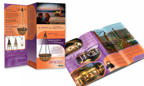 Tri-fold Brochure for Lighted Gardens