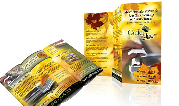 Tri-fold Brochure for Gutter Edge of New Jersey