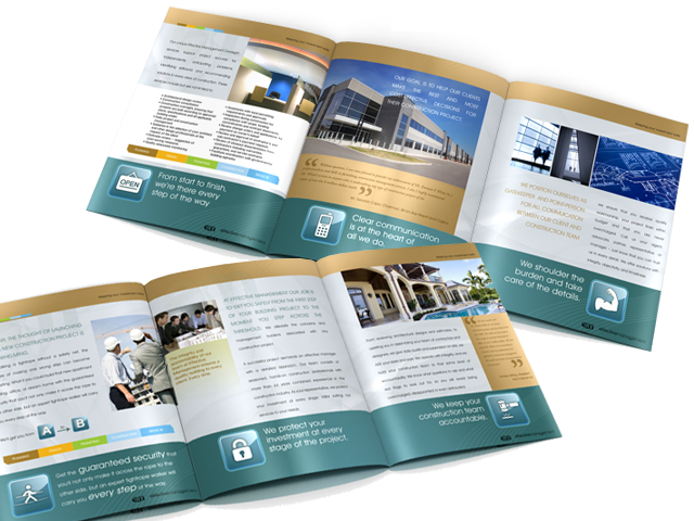 Large Tri-fold Brochure for Effective Management