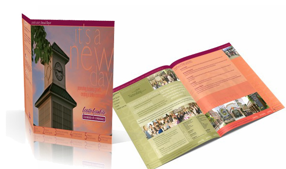 Brochure for Annual Report City of Grandville Chamber of Commerce in Michigan