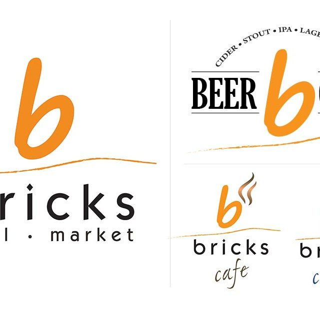 Logo Design for Bricks Restaurant and Gas Station